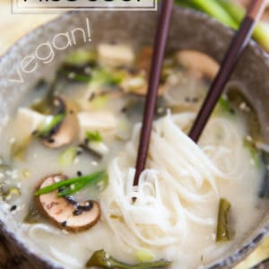 As delicious as it is easy to prepare, this Noodle Miso Soup comes together in under 10 minutes and requires only 5 ingredients to make!