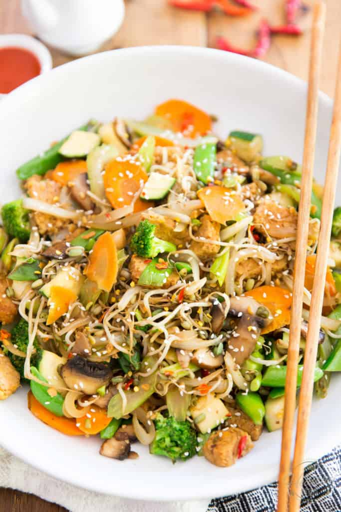 Quick and easy to make, these Asian Style Sauteed Veggies with Tempeh explode with flavor, while allowing the vegetables to truly shine and express their beautiful nature.