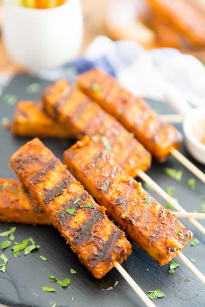 If you are a fan of buffalo sauce, then you will be all over these Buffalo Tofu Skewers. Their flavor and texture is so similar to that of chicken, it's almost scary... they will even win over the toughest tofu non-enthusiasts!