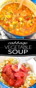 Packed with all kinds of wholesome vegetables happily swimming in a tasty tomato broth, this Cabbage Vegetable Soup is a bowl of warming comfort that you can eat to your heart's content, knowing that you are doing your body nothing but good!