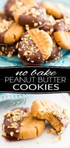 These No Bake Vegan Peanut Butter Cookies are as easy to make as they are delicious to eat, and good for your body! A truly guilt-free little treat for the peanut butter lover in you!