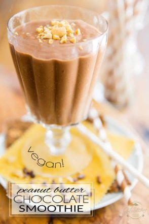Vegan Peanut Butter Chocolate Smoothie