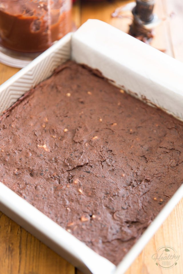 Bake the brownies until the top appears set and edges start to pull apart