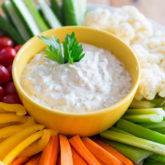 Creamy, tangy, bursting with flavor, this Vegan Creamy Ranch Dip will instantly become your fresh veggies' best friend, and the star of any party it gets invited to!