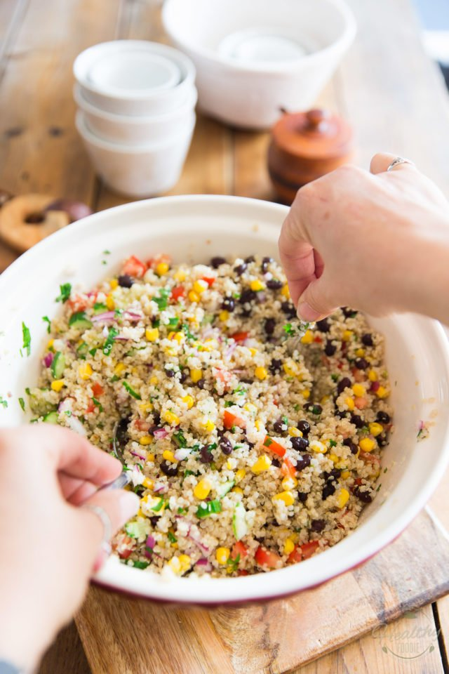 Vegan Mediterranean Quinoa Salad by Sonia! The Healthy Foodie | Recipe on thehealthyfoodie.com