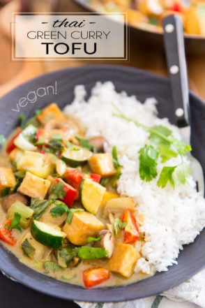 Delicious, rich, creamy, filled with all kinds of bold flavors and a little kick of heat, this Vegan Thai Green Curry Tofu is a hearty, comforting meal that's as good for your body as it is pleasing to the palate.