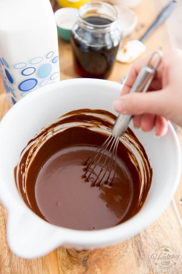 Stir until a super smooth and tick chocolate mixture forms