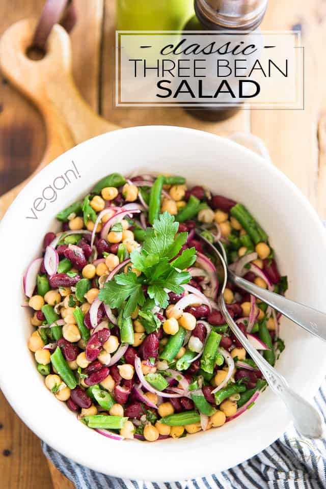 Classic Three Bean Salad The Healthy Foodie