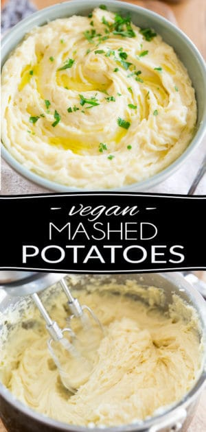 """These Vegan Mashed Potatoes are so good, creamy and buttery, no one will ever guess that they're not """"the real deal"""". No need to tell them... that'll be your little secret!"""