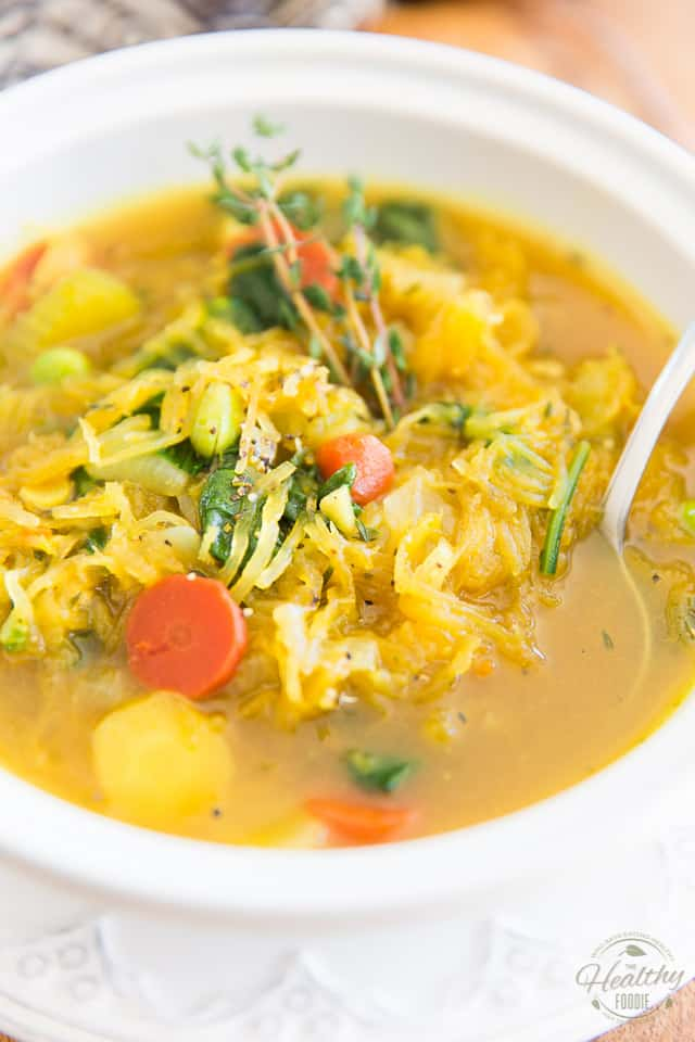 Move over pasta, Spaghetti Squash Soup is here! Deliciously hearty and conforting, it's the perfect meal to make you feel better inside and out when winter refuses to go...