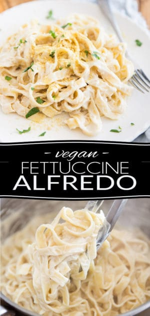A creamy, cheesy Vegan Fettuccine Alfredo Sauce that not only is crazy tasty, easy and quick to make, but also happens to be super good for you? Oh yes, it exists! And this? is it!