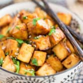 This Easy Oven Baked Tofu is so crazy yummy, tasty and addictive, you'll soon find yourself popping it like potato chips!