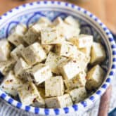 This Vegan Tofu Feta Cheese is a great, addictive and easy to make vegan substitute for traditional feta. Delicious in salads or on its own as a snack or appetizer!